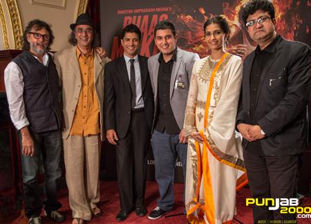 L-R: Rakeysh Omprakash Mehra, Art Malik, Farhan Akhtar, Jasmeet Singh Pasensar, Sonam Kapoor & Prasoon Joshi