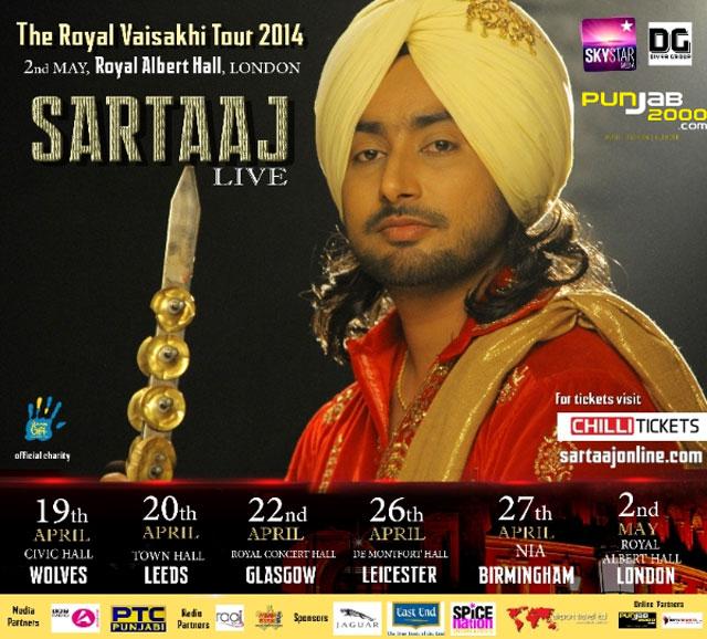 Sartinder Sartaaj LIve - The Royal UK Vaisakhi Tour 2014