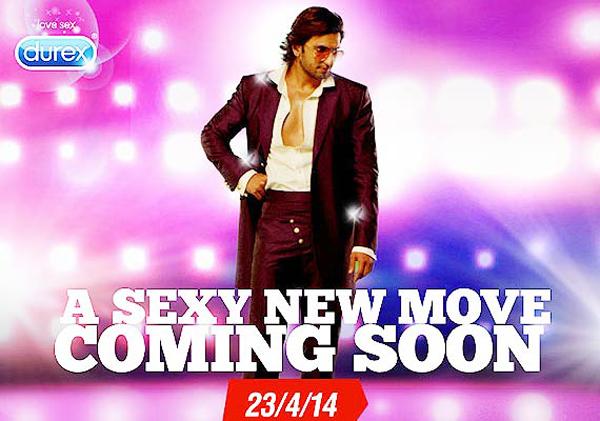 Bollywood star Ranveer Singh raps for 'Durex