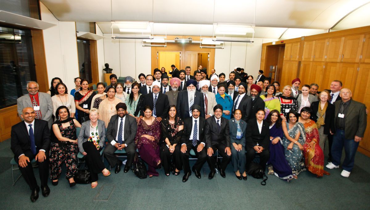Sikh Union committee members at the House of Commons