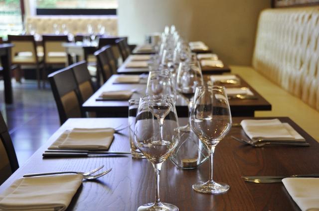 Table setting at Tapasya Restaurant, Hull