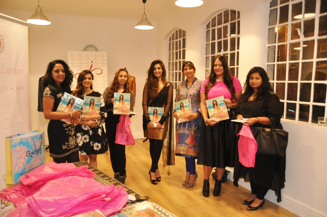 Ravita Pannu - guests - Noreen Khan - Gaby Manchanda - Amrit Matharu with Khush editor-in-cheif Sonia Ullah*