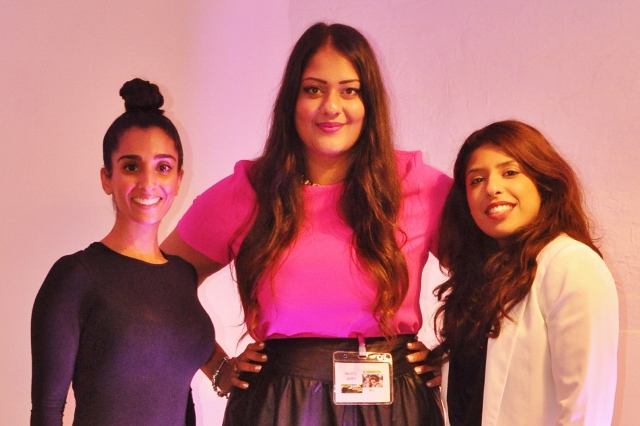 Amrit Matharu (Amaretto's World) with Chandeep Uppal (The Space Birmingham) and Yasmin Sidat (Pehrani)*