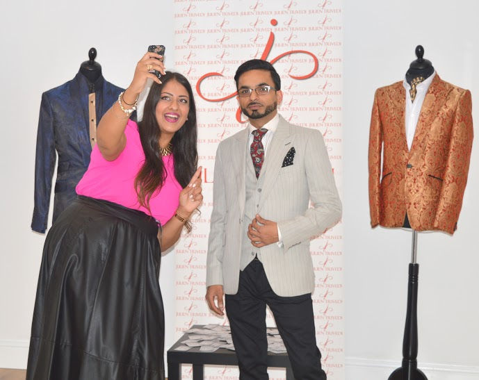 Amrit Matharu (Amaretto's World) and Julien Trivedi taking selfies**