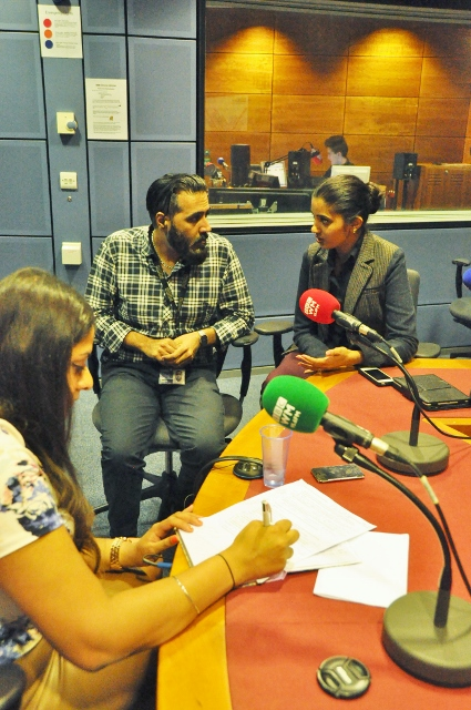 Amrit interviewing Sunny & Shay at the BBC