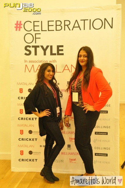 Amrit with designer Kirandeep Bassan at Celebration of Style Liverpool