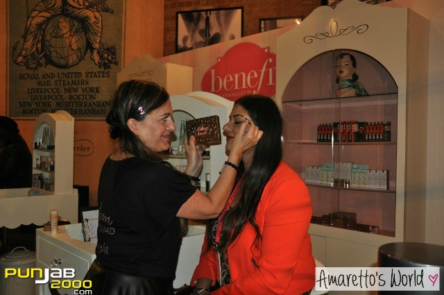 Amrit sampling Benefit's latest product 'Bling Brows'