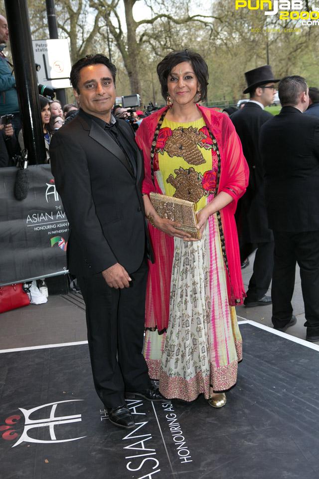 Sanjeev-Bhaskar-And-Meera-Syal-At-The-Asian-Awards-2015
