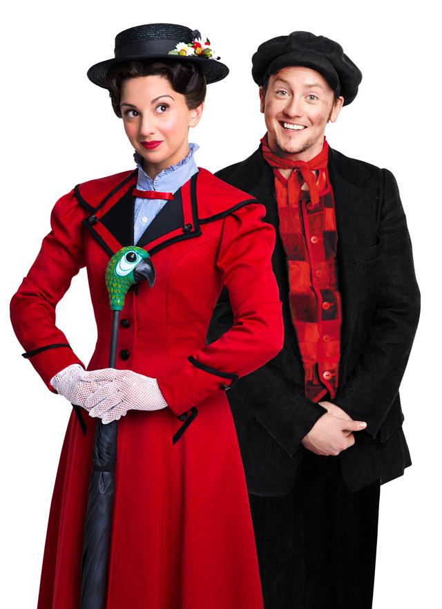MARY-POPPINS---Zizi-Strallen-as-Mary-Poppins-and-Matt-Lee-as-Bert