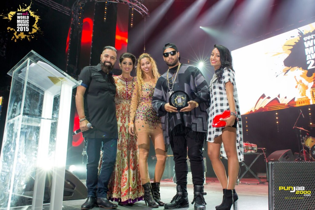 Imran Khan getting his award for  BritAsia World Music Awards 2015 for; Best Single UK ;Best Music Video ;Best Urban Asian Act