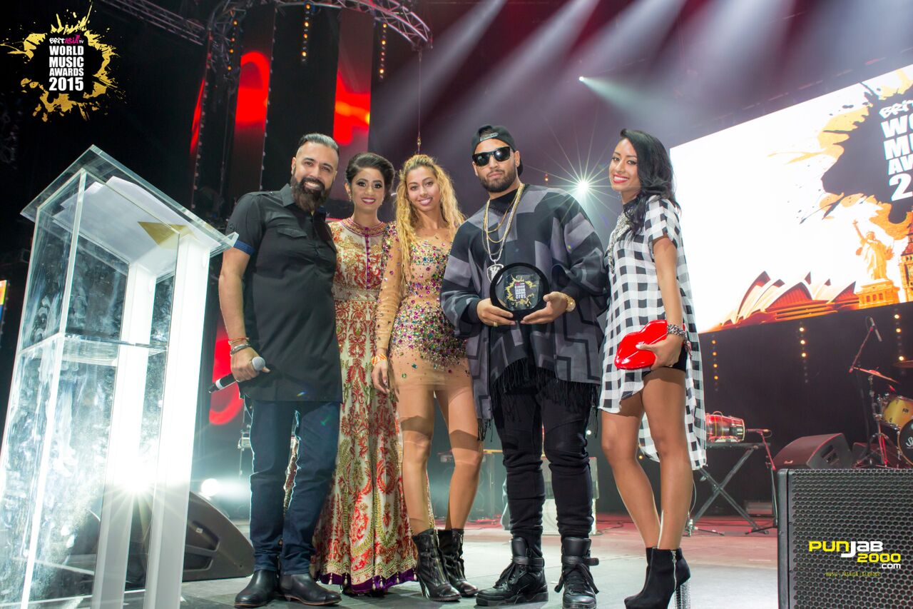 Imran Khan getting his award for  BritAsia World Music Awards 2015 for; Best Single UK ;Best Music Video ;Best Urban Asian Act