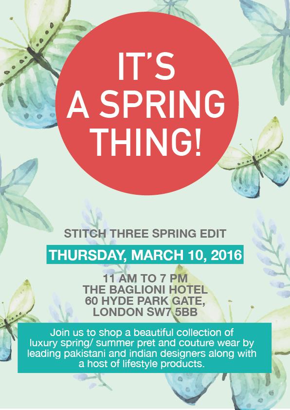 Stitch Three Spring Edit Flyer