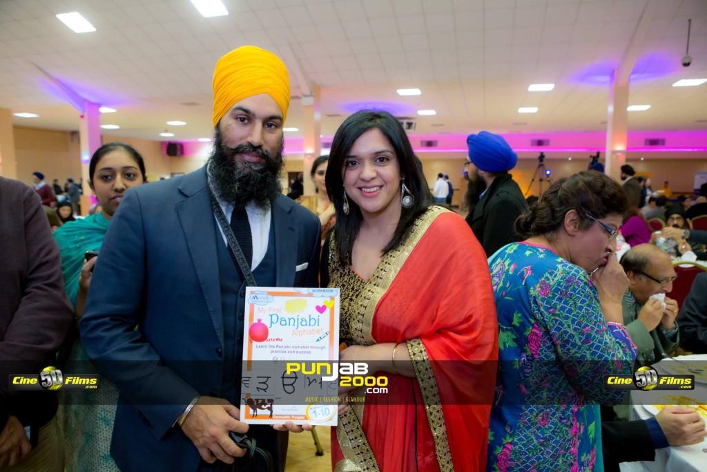 Kiran Lyall  with Jagmeet Singh