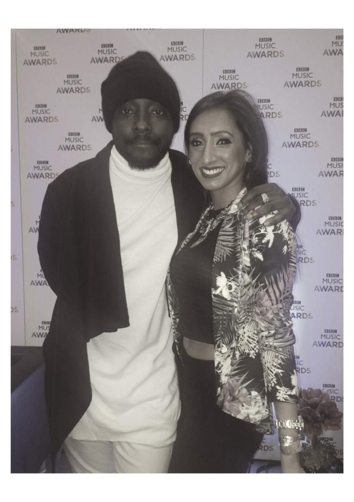 Leena Patel with will.i.am at BBC Music Awards