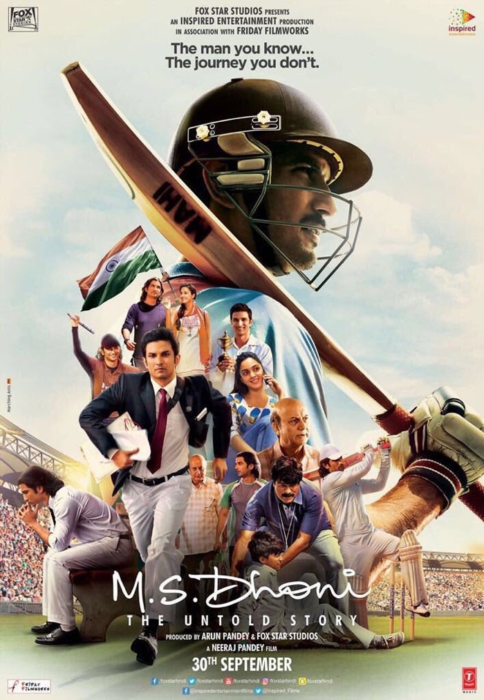 M.S. Dhoni: The Untold Sory 3rd Poster