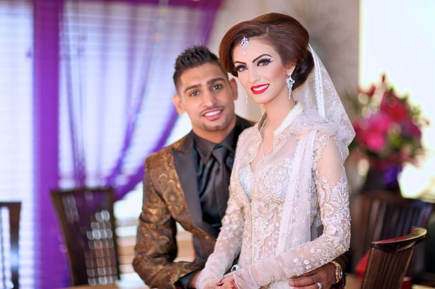 Faryal with husband, boxing champ Amir Khan