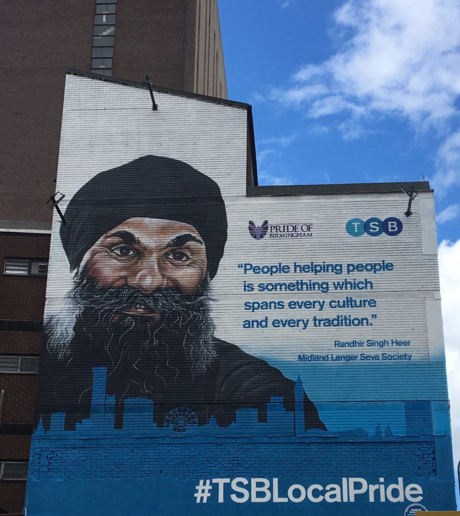 The Famous Mural which can be found In Birmingham City Centre
