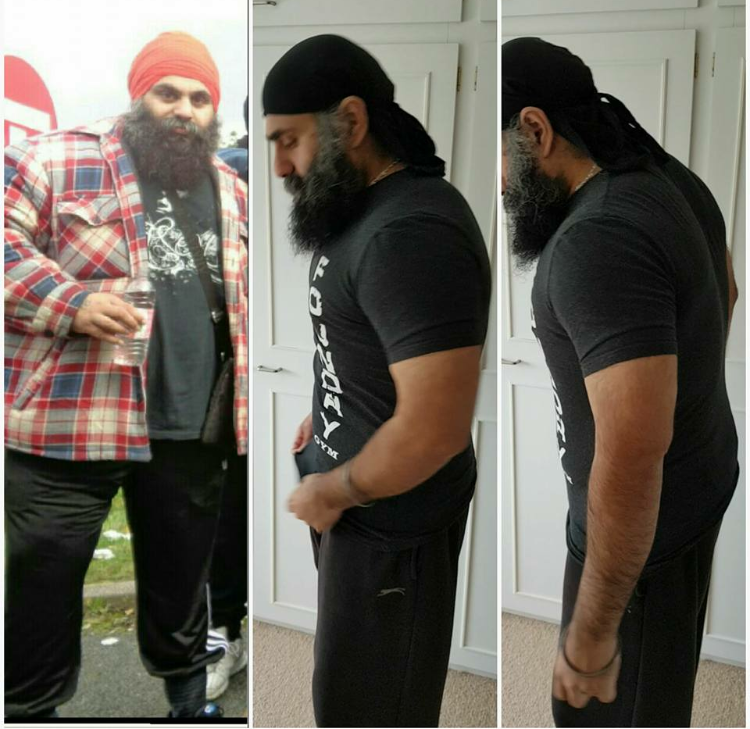 Before and After of Randhir weight loss!