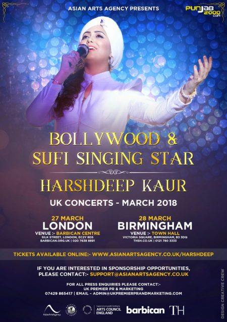 Harshdeep Kaur UK Concert