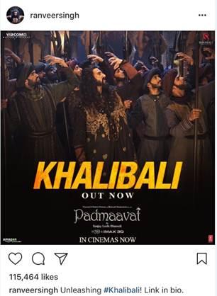 Padmaavat - Khalibali