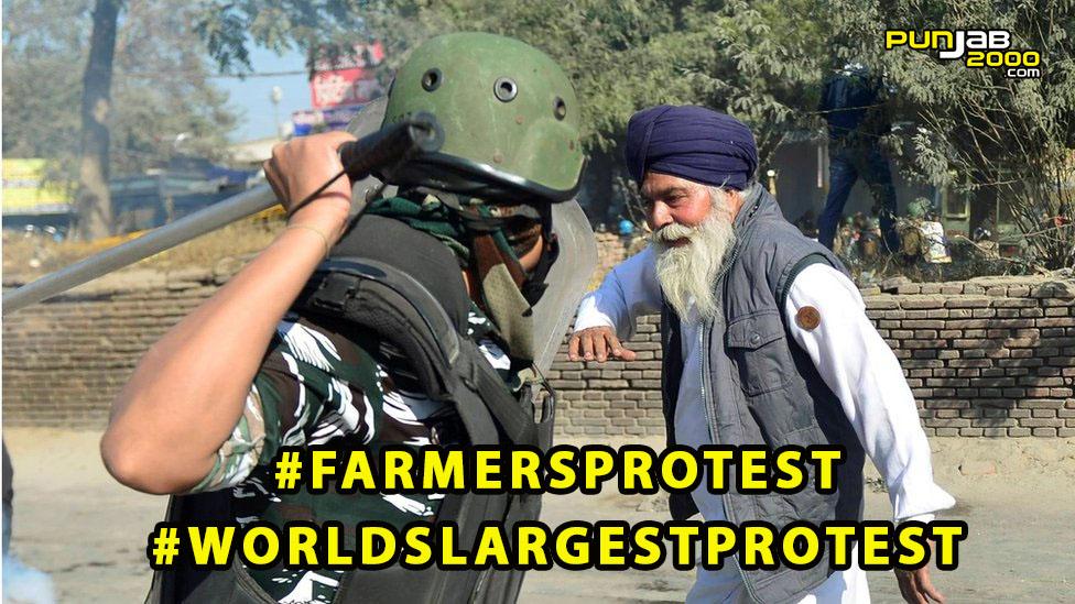 WorldLargestProtest FarmersProtest